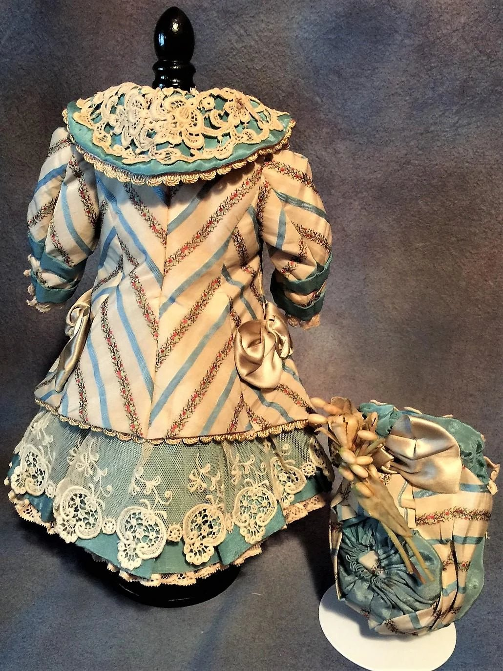 Marvelous french couture antique silk fabric dress with for French couture