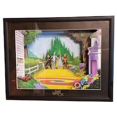 Animated Animations The Wizard of Oz 3-D Shadowbox Musical Art, COA