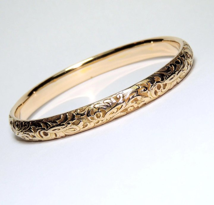 il gold ca bracelet bangles bangle solid listing