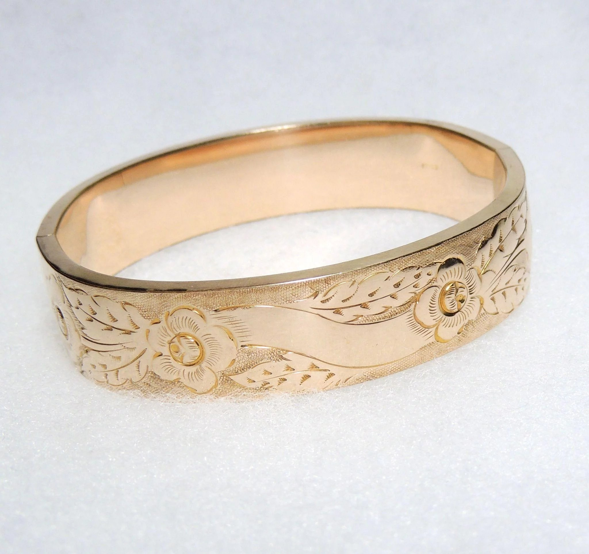 edwardian engraved expand to bangle click full bracelets bangles floral item wide gold bracelet victorian filled