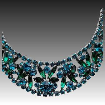Juliana by DeLizza & Elster Collar Necklace, Emerald Green, Turquoise & Teal