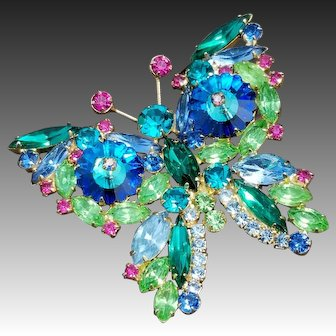 Juliana Margarita Rivoli Butterfly Brooch/Pin, DeLizza & Elster