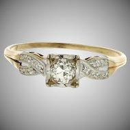 Vintage 1940's 14K Diamond Engagement Ring