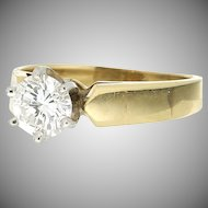 Vintage 14K Diamond Solitaire Engagement Ring