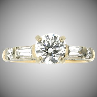 Modern Estate 14K Diamond Engagement Ring