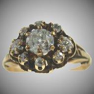 Victorian 14K Yellow Gold Diamond Ring