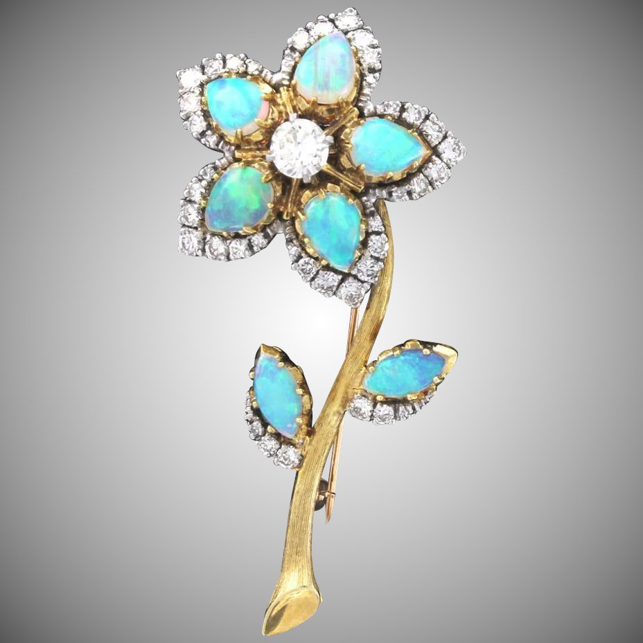 gold fiery natural opal products stick antique brooch victorian pin