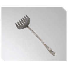 Antique Sterling Silver Bacon Fork, Kirk, Repousse