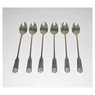 Sterling Silver Ice Tea Spoons, Set of Six (6), Frank W. Smith Co.