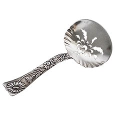 Sterling Silver Pierced Bon Bon Spoon by Tiffany, Daisy Vine Pattern