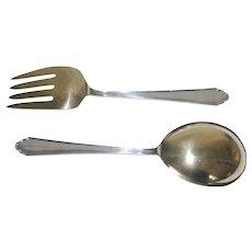 Vintage Sterling Silver Salad Fork & Spoon, Lunt