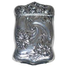 Antique Silver Plate Match Safe, Bristol Silver