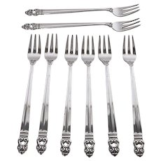 Vintage Sterling Silver Seafood Forks-International Silver