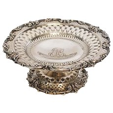 Antique Sterling Silver Reticulated Compote by Black, Starr & Frost