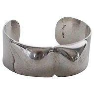 Vintage Sterling Silver Cuff Bracelet-Munir, Mexico