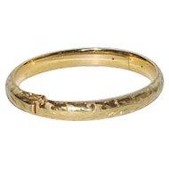 Vintage 14K Gold Bangle Bracelet