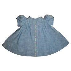"""Vintage Mommy Made Dress For 15"""" Dy-Dee With Tucks and Embroidery"""