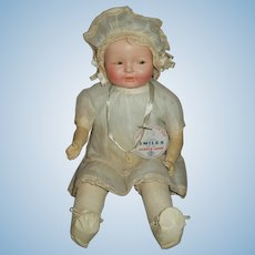 1927 All Original Ideal Smiles Doll With Eyes That Flirt and Wink!!