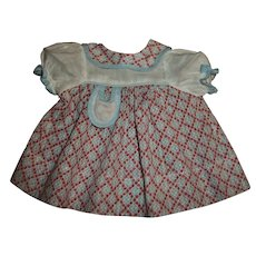 Most Adorable 1930s Dimity Print Dress For Patsy Type Dolls
