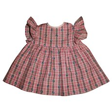 """Sweet Bluebell Flower Print Vintage """"Wing"""" Dress For 20"""" Shirley Temple Types or 15"""" Dy-Dee Baby & Friends"""