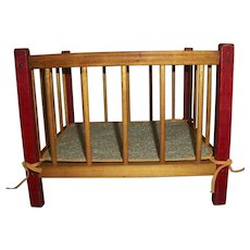 Original Terri Lee Sister LINDA BABY Wooden Play Pen With Pad~Hard to Find!~