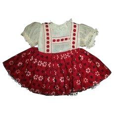 "Vintage Ideal 12"" Vinyl Shirley Temple Heidi Style Dress~Crispy MINT!!"