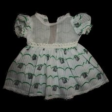 Vintage Factory Dimity Kitten Print and Organdy Dress for Tiny Tears and Others