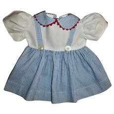 Cute Jumper Style Dress For Hard Plastic or Composition Girls