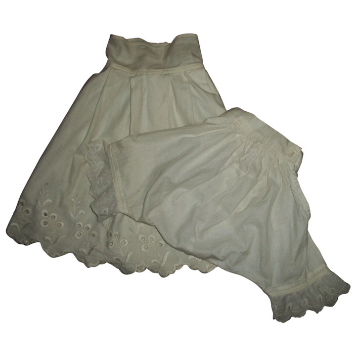 7546e483f1d Slip and Pantie Pantaloons With Eyelet For Antique Bisque Dolls   MoMos  Dolls and Vintage Goodies