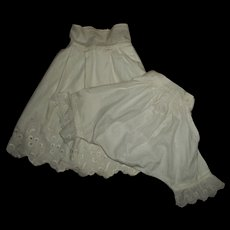 Slip and Pantie/Pantaloons  With Eyelet For Antique Bisque Dolls