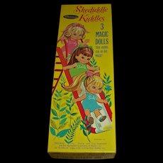 Mint Uncut  Boxed Set Vintage 1968 ~Mattel Skediddle Kiddles~ Whitman Paper Dolls