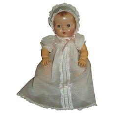 """Sweet Vintage Effanbee 11"""" Dy-Dee Doll Batiste Gown & Bonnet"""