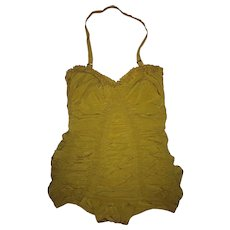 Fabulous tagged CATALINA Vintage Elastic Shirred~Ruching~ One Piece Swim Suit ~MINT!!~