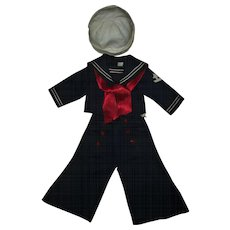 Vintage 1930's Tagged Ideal Shirley Temple Sailor~Captain January~Top~Pants~Hat~ Near MINT!!!!