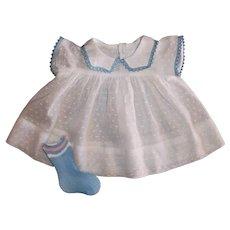 """MINT!! Effanbee 15"""" Dy-Dee Jane White Dotted Dress & Socks"""