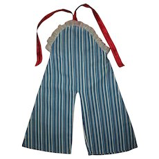 Vintage 1930s Ideal Shirley Temple Striped Jumpsuit With Bib/Halter Top~From Shirley's Trunk Set!!