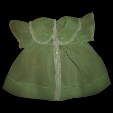 """Vintage~Lovely~Possibly Molly'es Organdy Dress Made For Effanbee 20""""Dy-Dee Lou"""