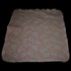 "Vintage RARE ""Bi-Bye Baby"" Effanbee Dy-Dee Doll Pink and White Reversible Blanket"