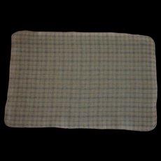 Vintage Effanbee Dy-Dee HTF Pink~Blue~White Plaid Eiderdown Blanket