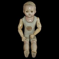 Rare WWI Era Effanbee Doll ~Composition~Leather~Wood Ball Jointed Tagged Body and Neck