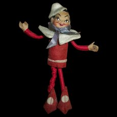 """Vintage Tiny Town """"Like"""" With Composition Head Elf~Santa's Helper"""