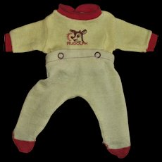 "Vintage Adorable ""Rudolph The Red Nosed Reindeer"" Nitey Nite Knit Sleeper For 11""-13"" Baby Dolls"
