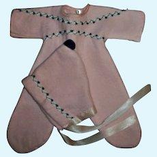 "Vintage Factory Soft Plush Snowsuit, Pram With Bonnet For 13"" Tiny Tears and Friends"