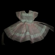 """Vintage Ideal 12"""" Shirley Temple Nylon Party Dress"""