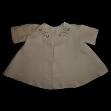 Vintage Pink Linen Embroidered Swing Coat