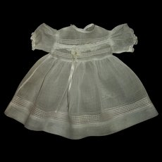 Pretty Factory Organdy Doll Dress For Larger Toddler or Baby Dolls
