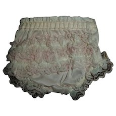 """Vintage Fancy Ruffled Panties For 11""""-12"""" Tiny Tears, Betsy Wetsy and Friends"""