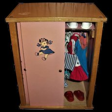 Rare Tiny Terri Lee Wardrobe With Clothes and Accessories