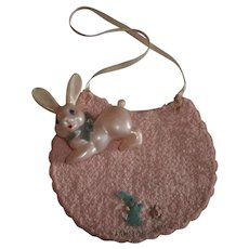 Mint!  Dy-Dee Lou Easter Bib and Bunny Rattle