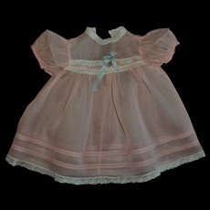 Vintage Pink Organdy Baby Doll Dress
